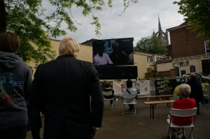 Boris watching tennis