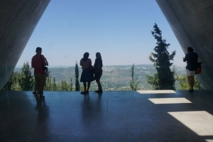 The panoramic view at Yad Vashem, hope after the harrowing experience of the story of the Shoah