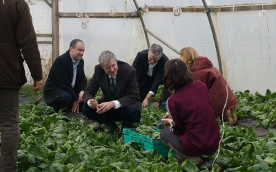 Visiting Sutton Community Farm with Zac Goldsmith