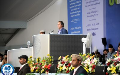 Taking part in the Jalsa Annual Convention