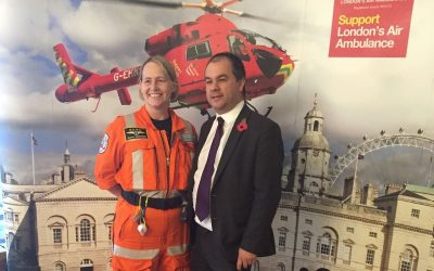 Giving thanks to the London Air Ambulance