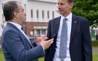 Talking St Helier with Jeremy Hunt
